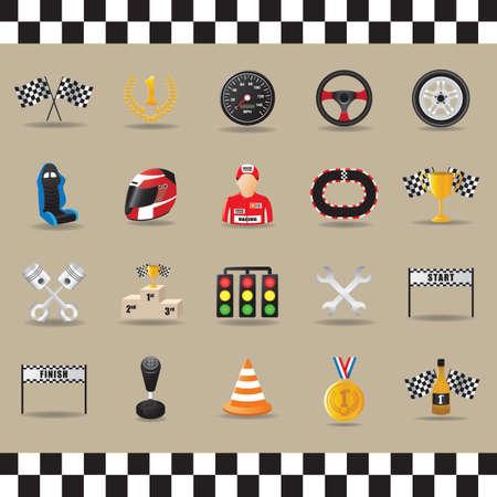 motor racing: motor racing collection Illustration