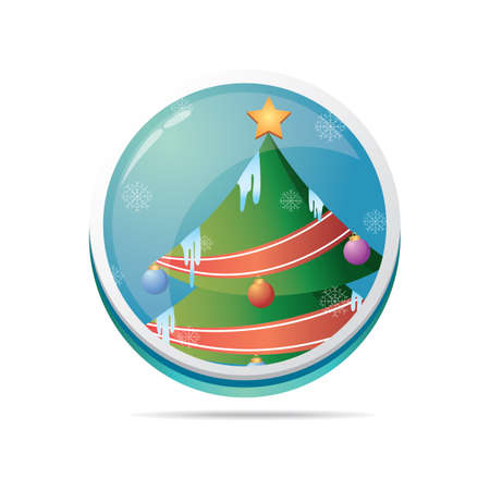 x mass: xmas tree in a button