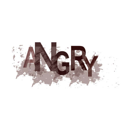 adjective: angry text