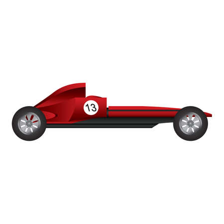 four wheeler: sports car Illustration