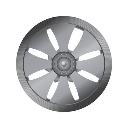 rim: wheel rim Illustration