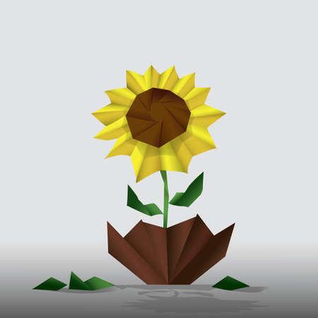 sun flower: sun flower origami