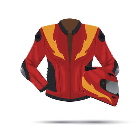 racing jacket and helmet