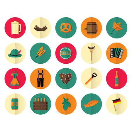 bretzel: oktoberfest icons