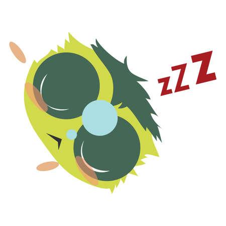 snoring: emoticon snoring Illustration