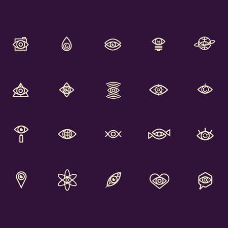 abstract eye: abstract eye icon collection