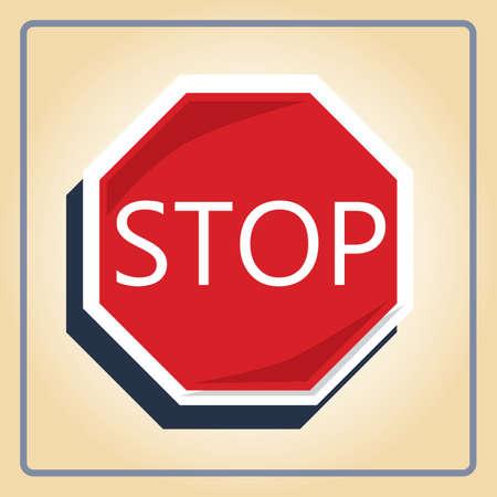 racing sign: stop sign