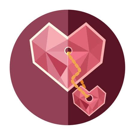pendant: heart shaped pendant