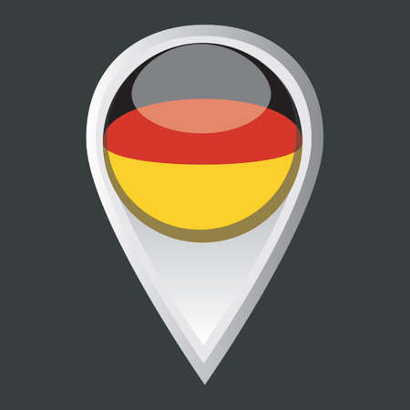 map pointer: map pointer with germany flag