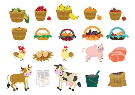 Satz von Landwirtschaft Symbole Standard-Bild - 53051170
