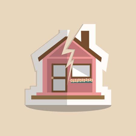 torn: torn house Illustration