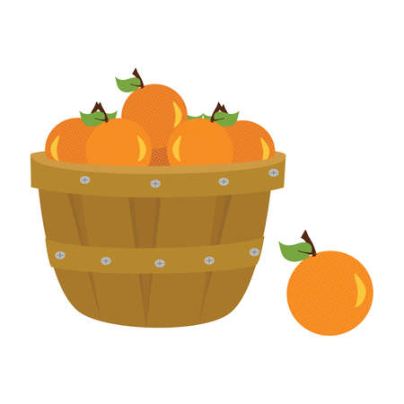 sinaasappelen in mand