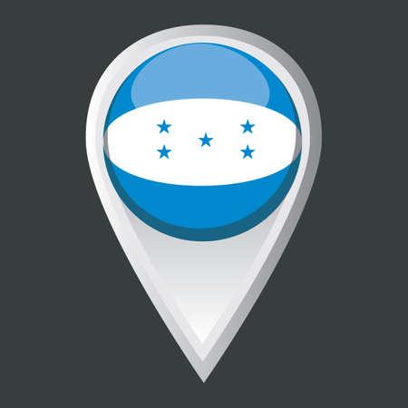 bandera honduras: puntero del mapa de la bandera de Honduras Vectores