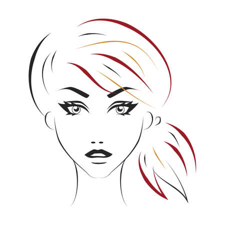 tied up: woman hairstyle