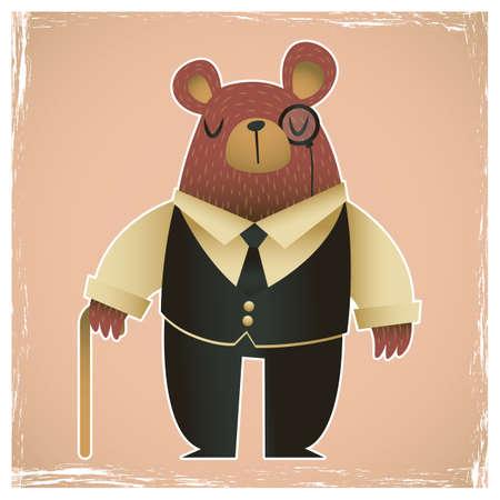 wearing: bear wearing gentle man costumes