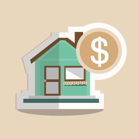 buying real estate: house with dollar Illustration