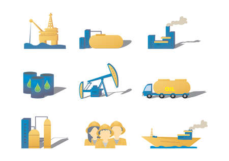 oil and gas: set of oil gas icons Illustration