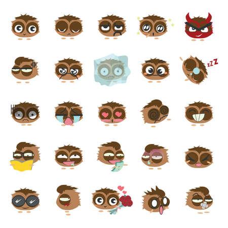 hypnotized: set of emoticons