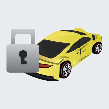 car lock: car with lock