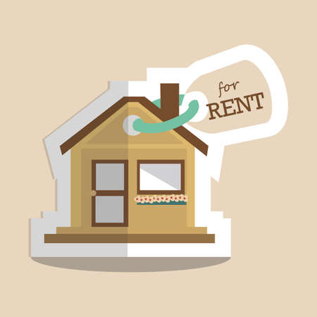 house for rent: house for rent Illustration