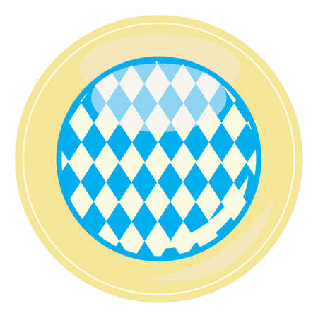 bavaria: bavaria flag Illustration