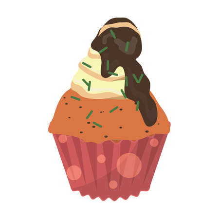 chocolate cupcake: orange and chocolate cupcake
