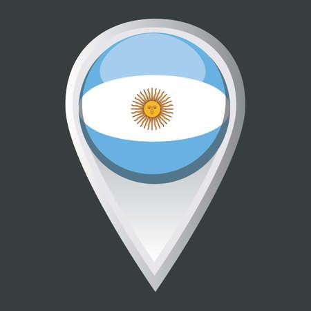 Uruguay flag: puntero del mapa de la bandera de Uruguay