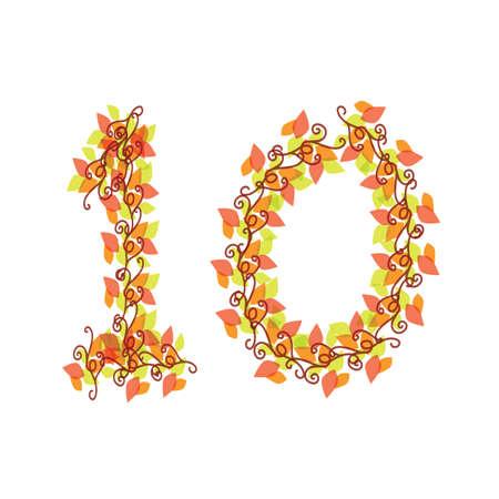 number 10: number 10 Illustration