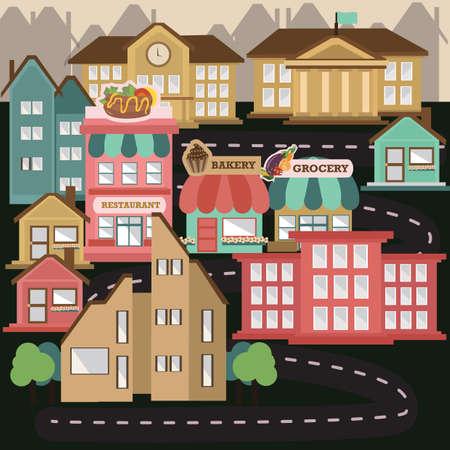 city scape: city scape Illustration