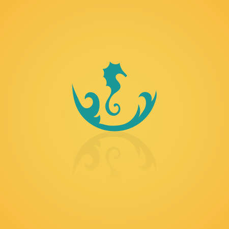 icon: seahorse icon Illustration