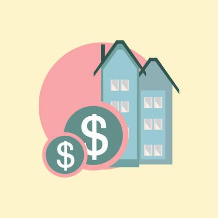 buying: buying house Illustration
