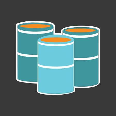gallon: oil barrel Illustration