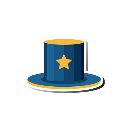 headwear: magician hat