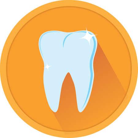 shiny tooth Illustration