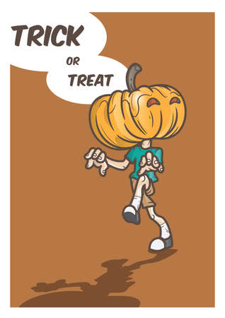 treat: trick or treat pumpkin man