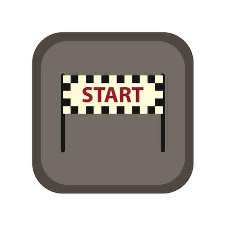start line: start line banner Illustration