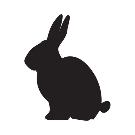 silhouette of rabbit