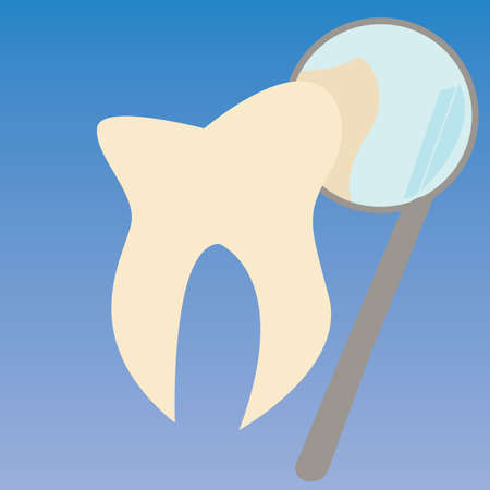 dental mirror: tooth checkup with dental mirror