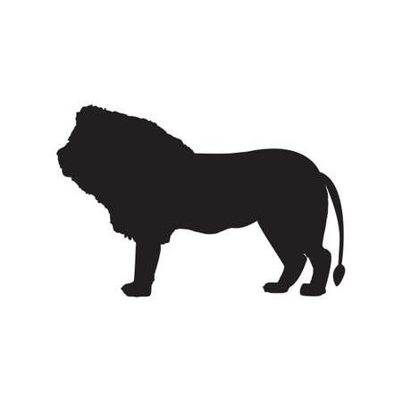 silhouet van de leeuw Vector Illustratie