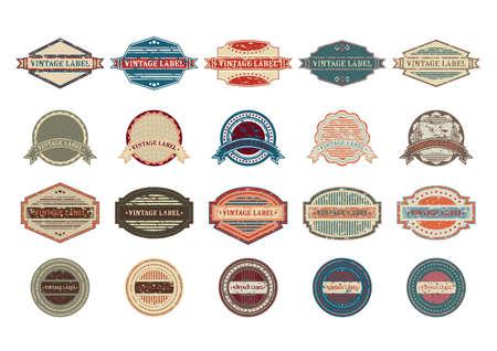 ensemble d'étiquettes vintages