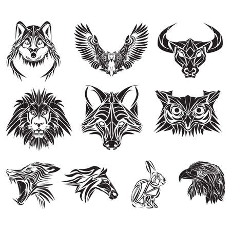 collection of various animal tattoos