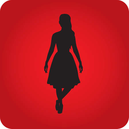 fashionable woman: silhouette of fashionable woman