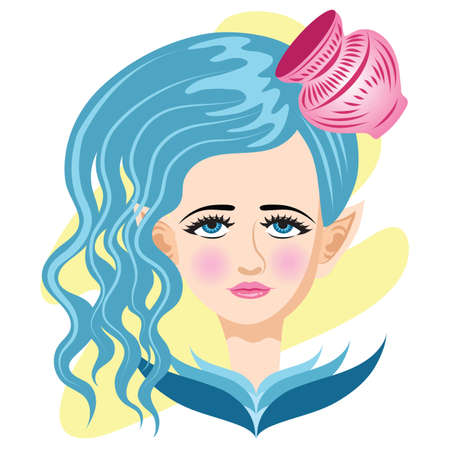 aquarius star: aquarius horoscope Illustration