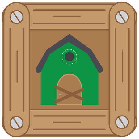 peasant: barn Illustration
