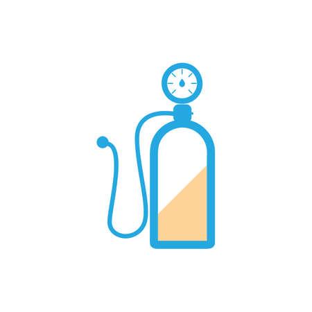 nitrogen: nitrogen gas tank Illustration