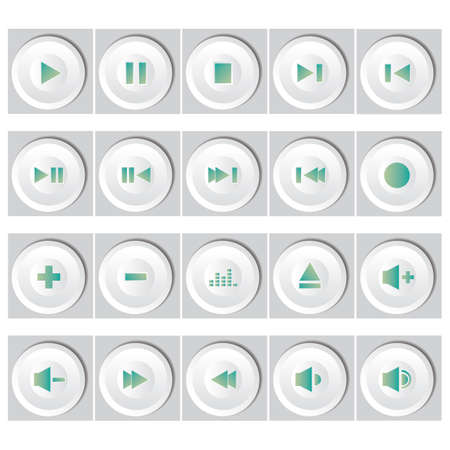 high volume: set of buttons