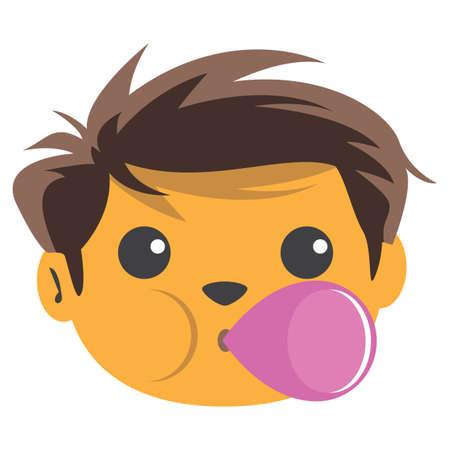 jongen blaast zeepbel