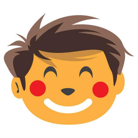 blushing: boy blushing