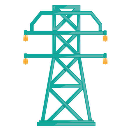 power icon: electricity transmission tower Illustration