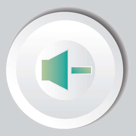 decrease: decrease volume button Illustration